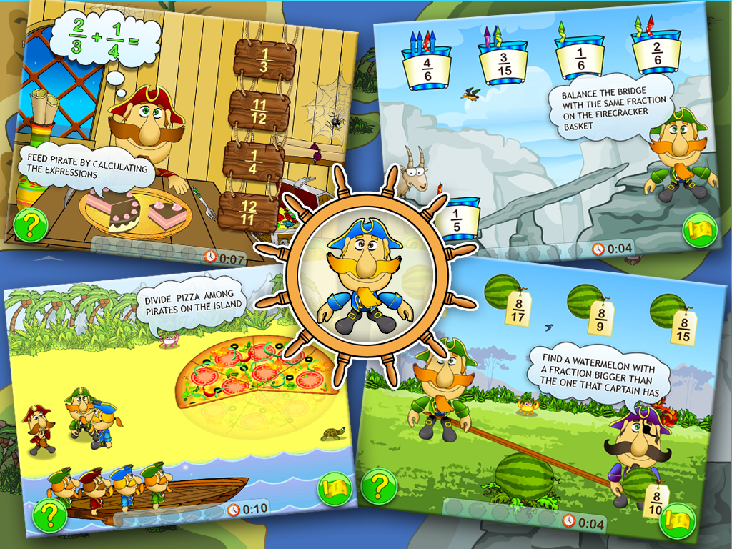 Fractions and Smart Pirates Free 1.1 full